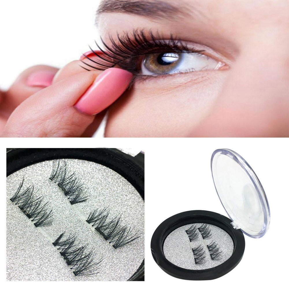 Magnetic Eye Lashes 3D Reusable False Magnet Eyelashes Extension p3264