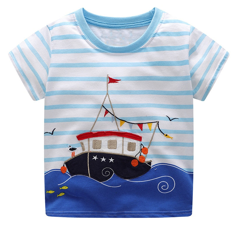 Boys Summer Clothes Children T shirts 2018 Brand Tee Shirt Fille Cotton Tops Kids p2602Buy mate