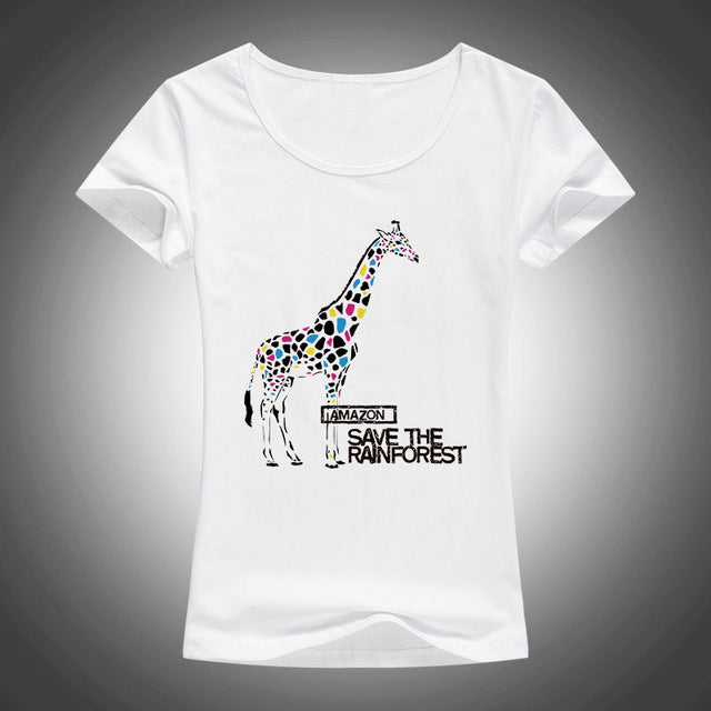 extreme terr africa zo animal printing t shirt women summer short sleeves fashion tops 2017 new tees p0525