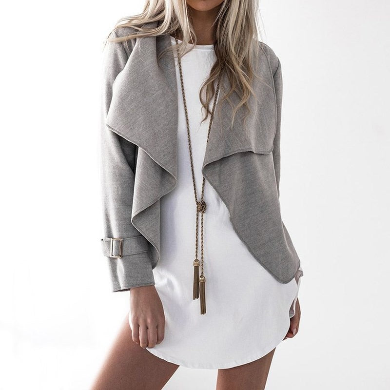 Long Sleeve  Casual Party Crop Tops Open Stitch Outwear