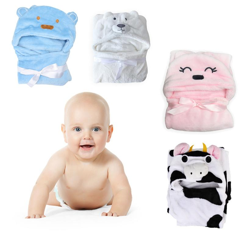 Soft Baby Blankets Newbrons Bathing Towels Lovely Animal Shape
