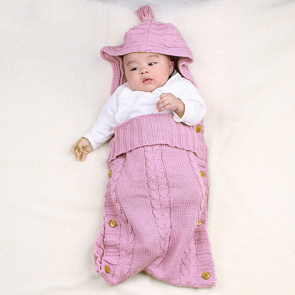 Baby Blanket Wrap Swaddle Wool Knit Baby Blankets Newborn