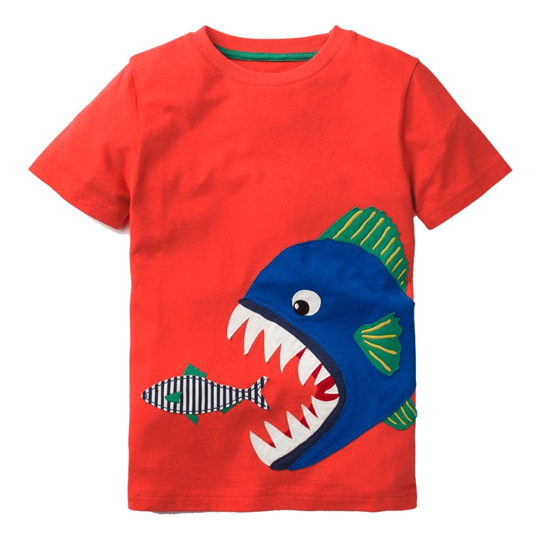 Boys T shirt Baby Summer Clothes 2018 Brand Unicorn Dinosaur Animal Kids p2600Buy mate