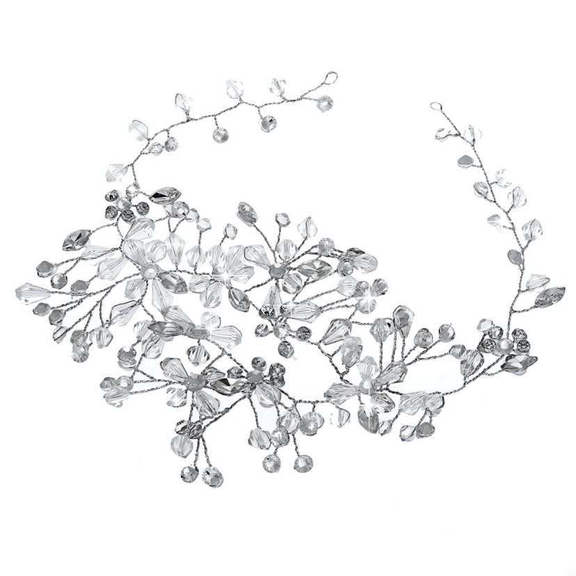 Women's White Flower Wedding Bridal Hair Clip Handmade Head Hairpin p3680Buy mate