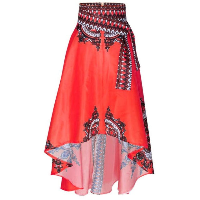 Vintage African   For Women Patchwork  African Print Maxi Summer Dashiki   Robe Africaine Femme  Mujer p0510Red / XLBuy mate