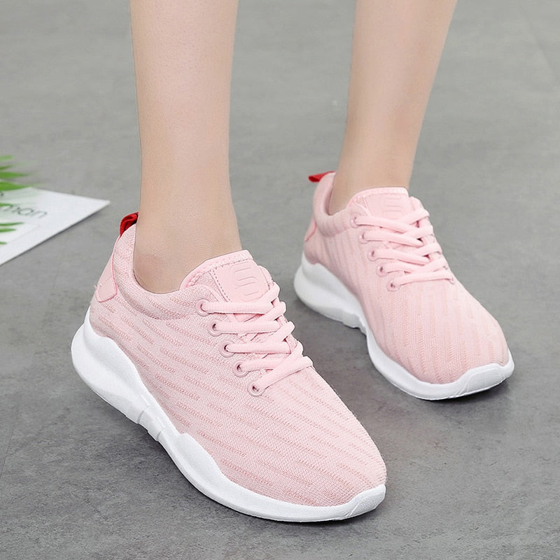Wome Sneakers Breathable Vulcanize Shoes  Female