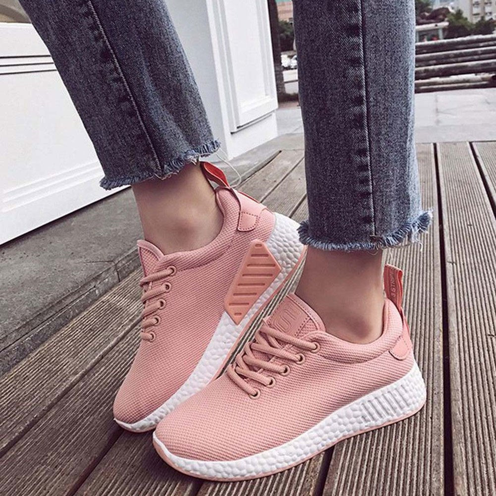 Fashion Women's Breathable Mesh Shoes Anti-Slip Sneakers