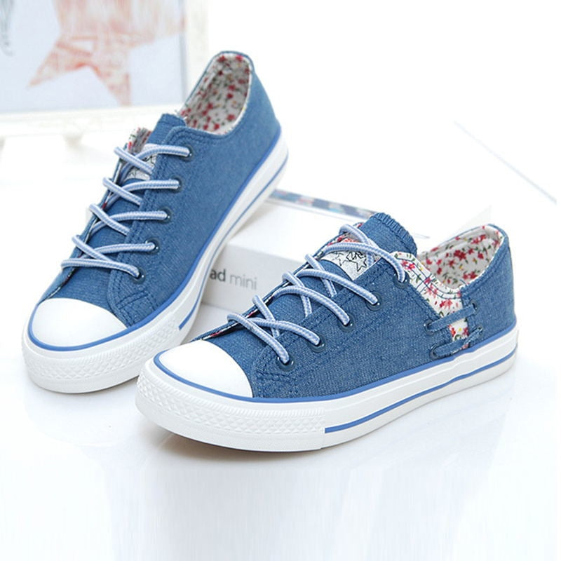Women Canvas Shoes Summer Fashion Lace-up Women  Ladies