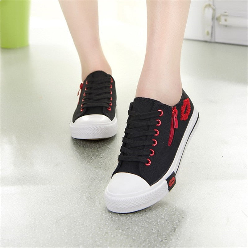 Canvas Shoes Lace-up Summer Fashion Flats Breathable Casual Soft