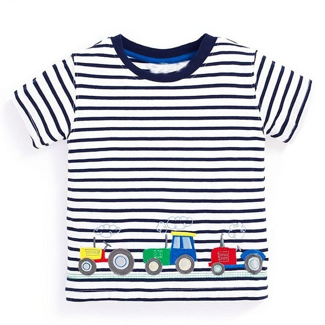 Boys Tops Summer Brand Children T shirts Boys Clothes Kids Tee Shirt Fille 100% Cotton Character p255981 / 6Buy mate