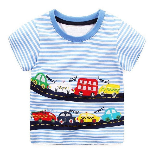 Boys Tops Summer Brand Children T shirts Boys Clothes Kids Tee Shirt Fille 100% Cotton Character p255985 / 6Buy mate