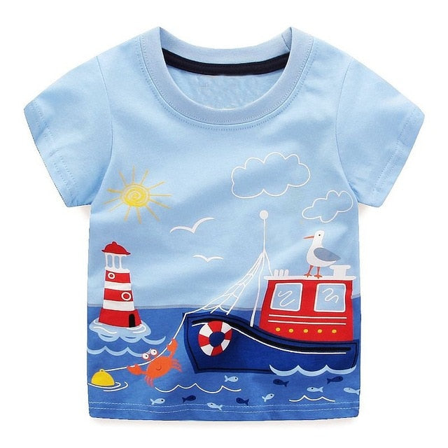 Boys Tops Summer Brand Children T shirts Boys Clothes Kids Tee Shirt Fille 100% Cotton Character p255990 / 6Buy mate