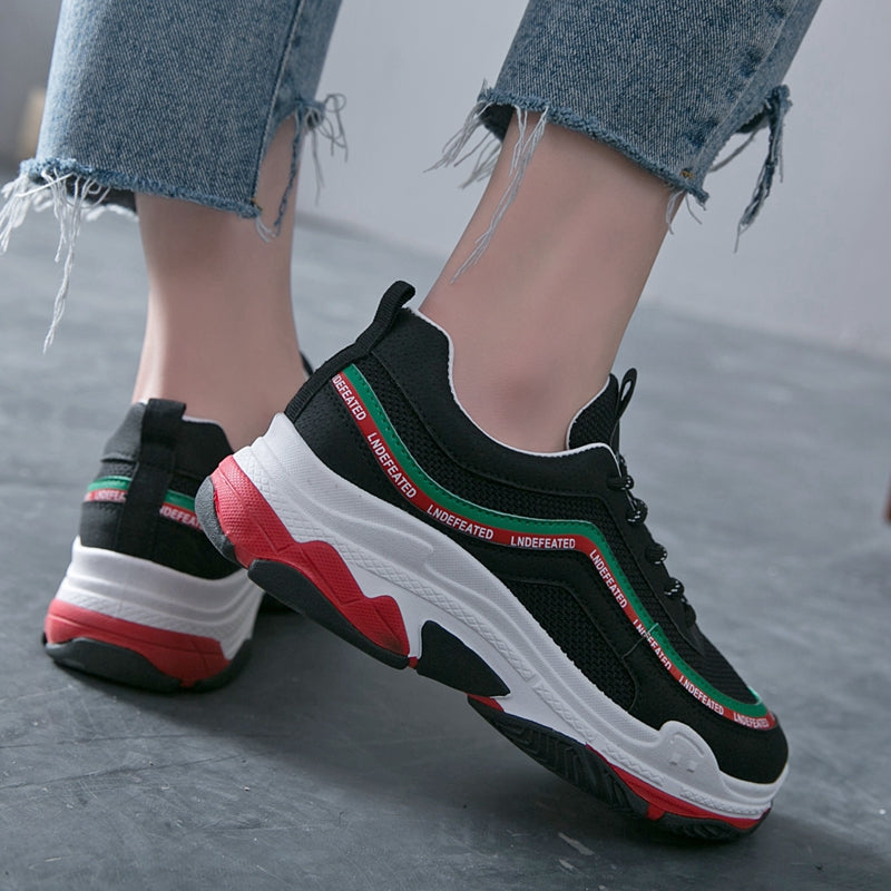 Women Sneakers  Tenis Feminino Summer Added Platform Shoes