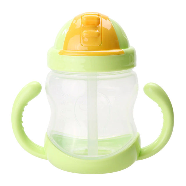 Baby Feeding Bottle Cup Silicone Training Drinking  Feeding Bottles