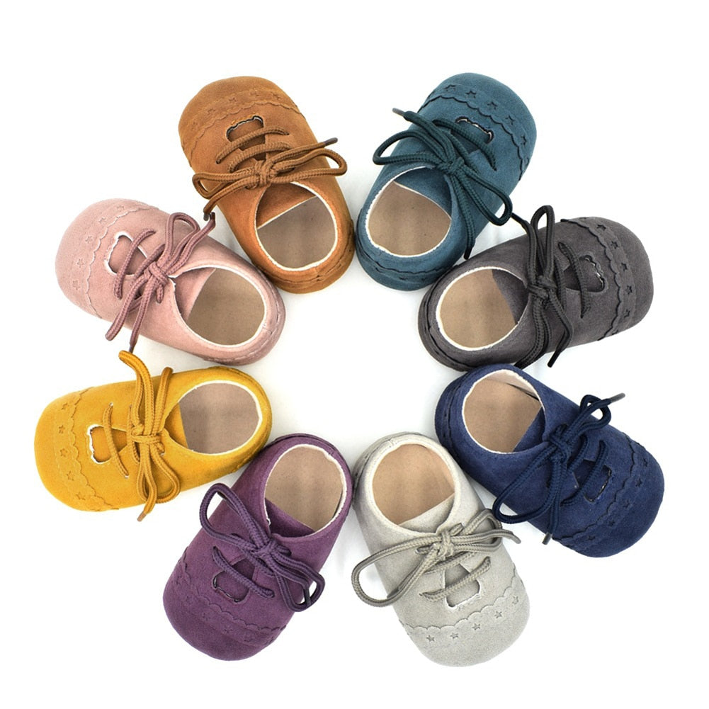 Hot Newborn Baby First Walk Shoes  Nubuck Leather Anti-slip Shoes