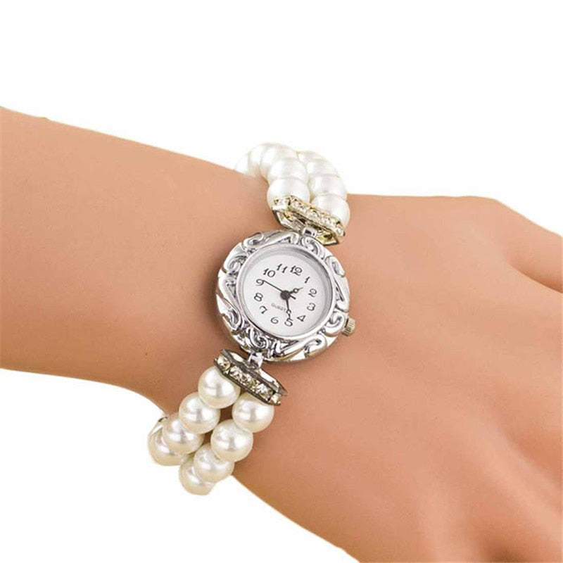 Students Beautiful Fashion Brand New Golden Pearl Quartz Bracelet Watch New Arrivals Levete Women Watches p3951Buy mate