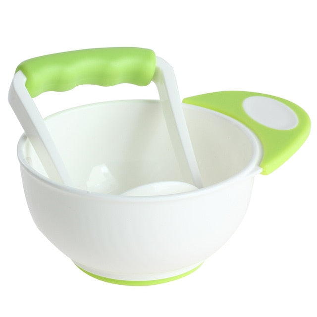 Baby Food Mills and Container Bowl Set Manual Grinding Dishes