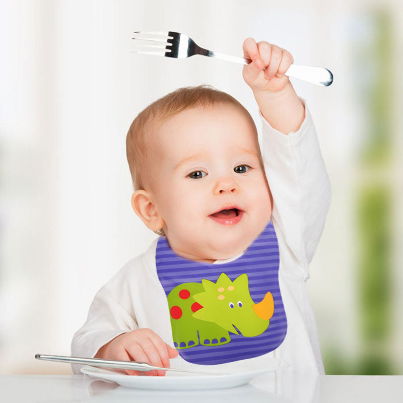 Baby Bibs Children EVA Waterproof Cartoon Bibs Infant Burp