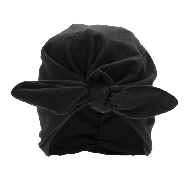 Baby Girls Boys Cute Soft Hats With Bow Children Spring Autumn
