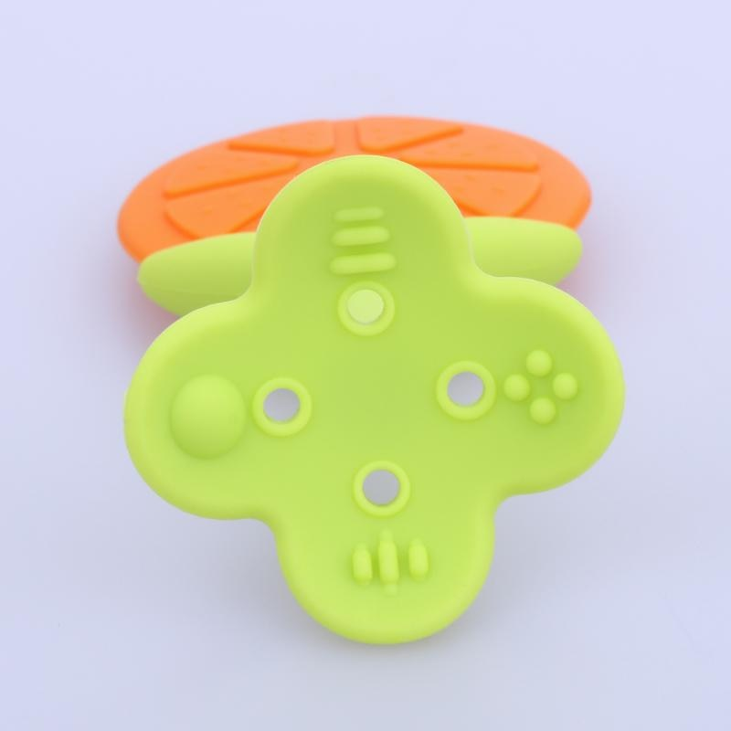 1 pc Safety Baby Food Grade Silicone Teether Cute Fruit Shape