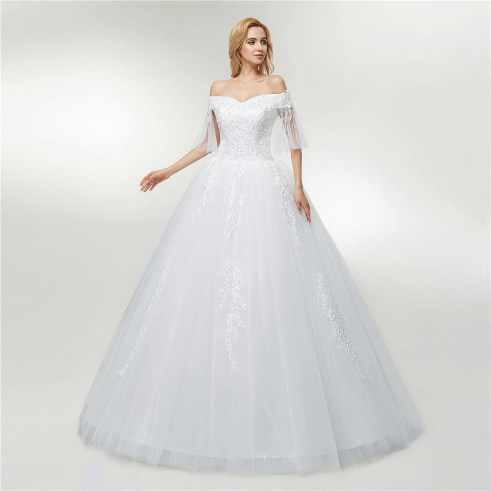 Free Shipping Tulle Mariage Lace Ball Gowns Wedding Dress 2019 Vestido De Noiva Custom-made p3576Buy mate