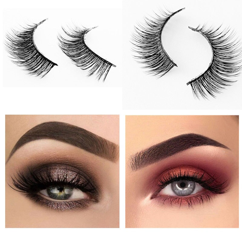 natural false eyelashes fake lashes long makeup 3d mink lashes extension eyelash for beauty maquiagem fashion p3404