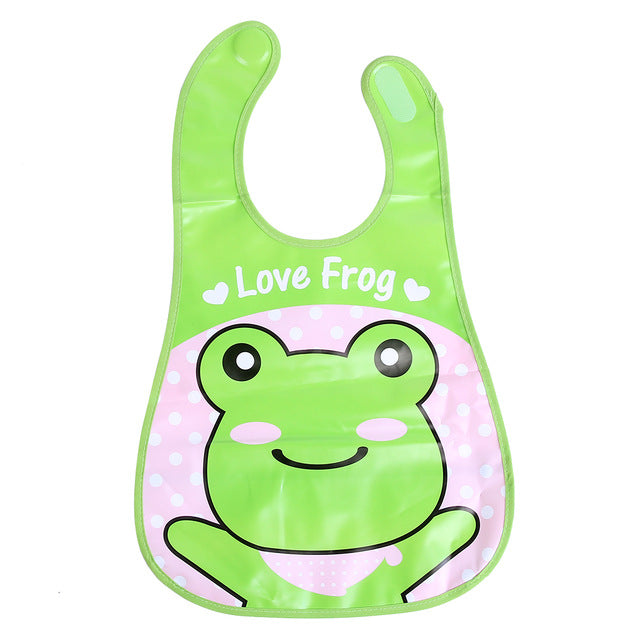 Newborn Baby Feeding Bibs EVA Waterproof Cartoon Food Saliva