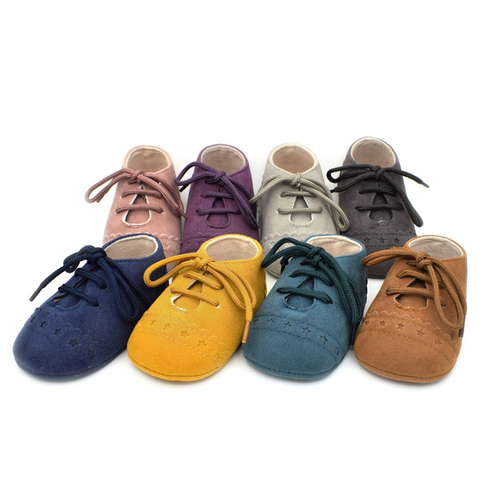 Hot Newborn Baby First Walk Shoes Girl Boy Soft Nubuck Leather