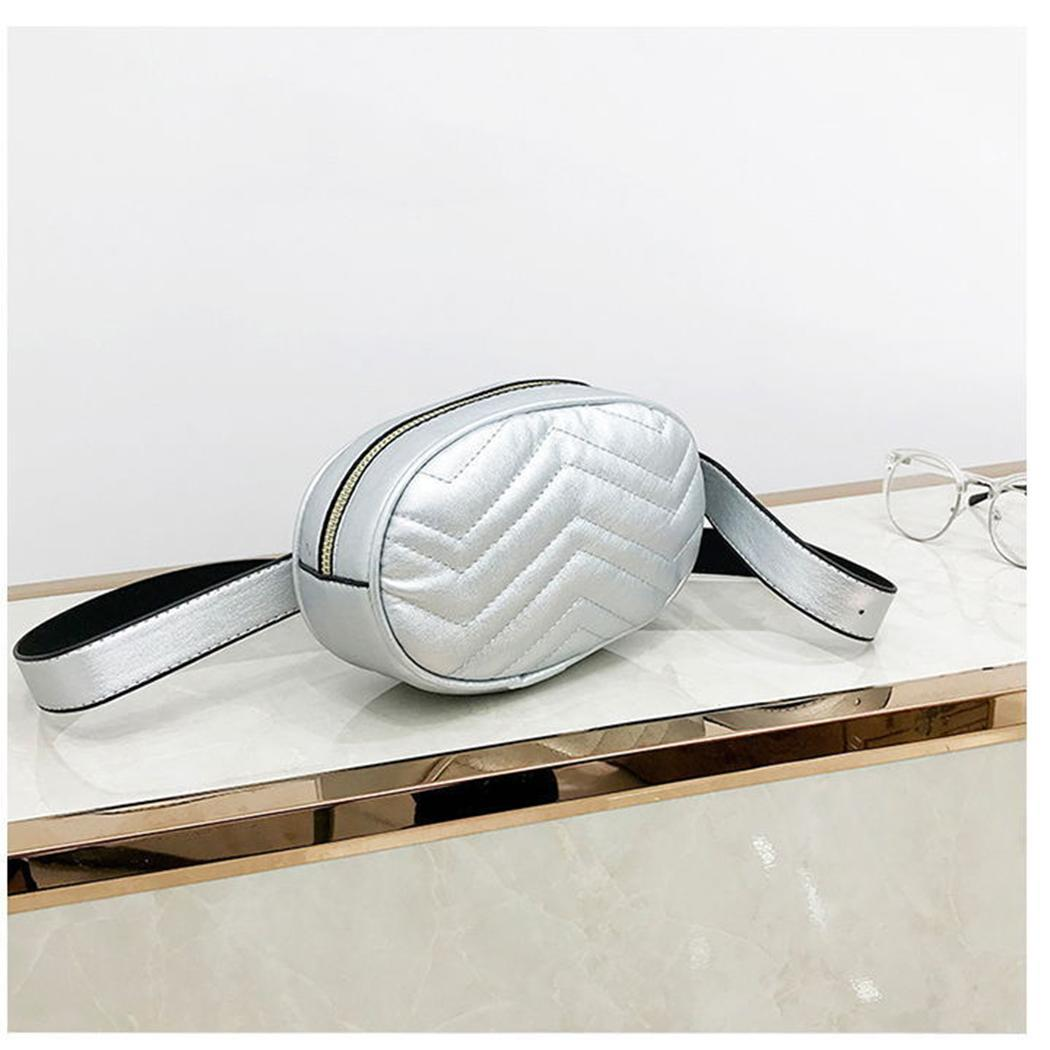 Round Fashion Mini Thread Zipper Closure Women Waist Bag