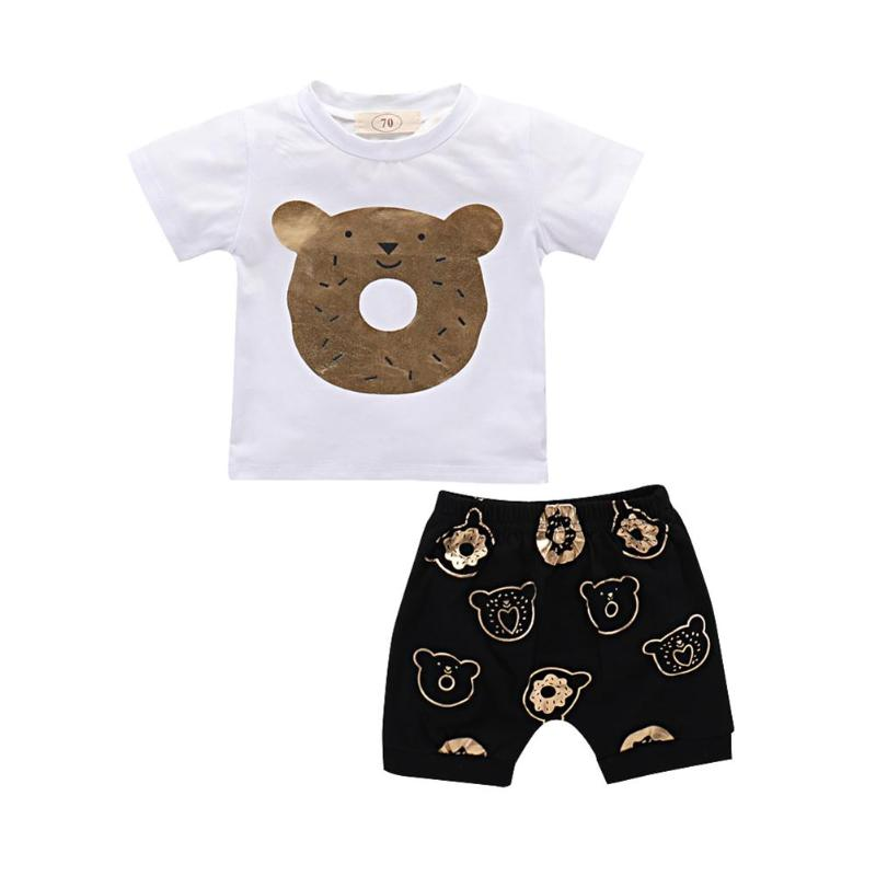 2pcs/set Unisex Baby Clothes Set Newborn Baby Overalls Boys Girl