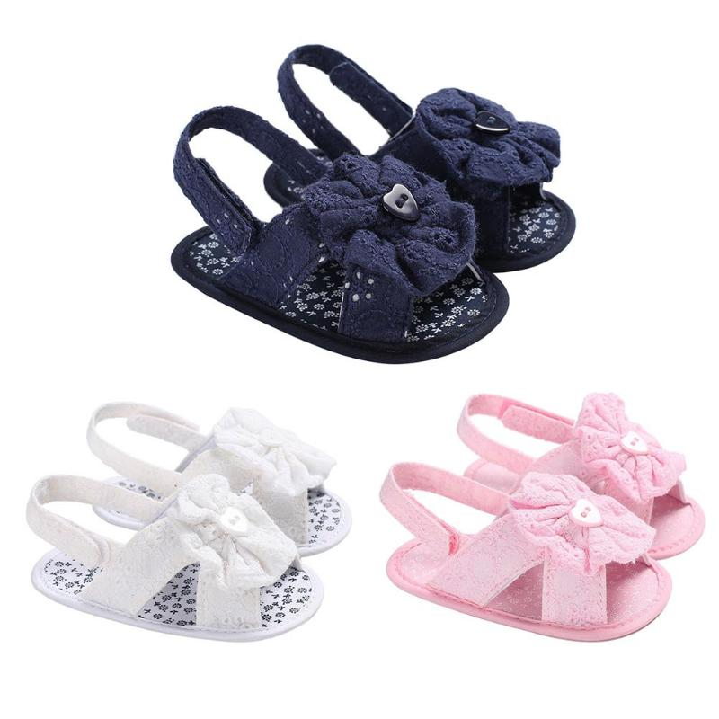 Sweet Girls Baby Prewalker Shoes Bowknot Baby Girls Sandals Soft