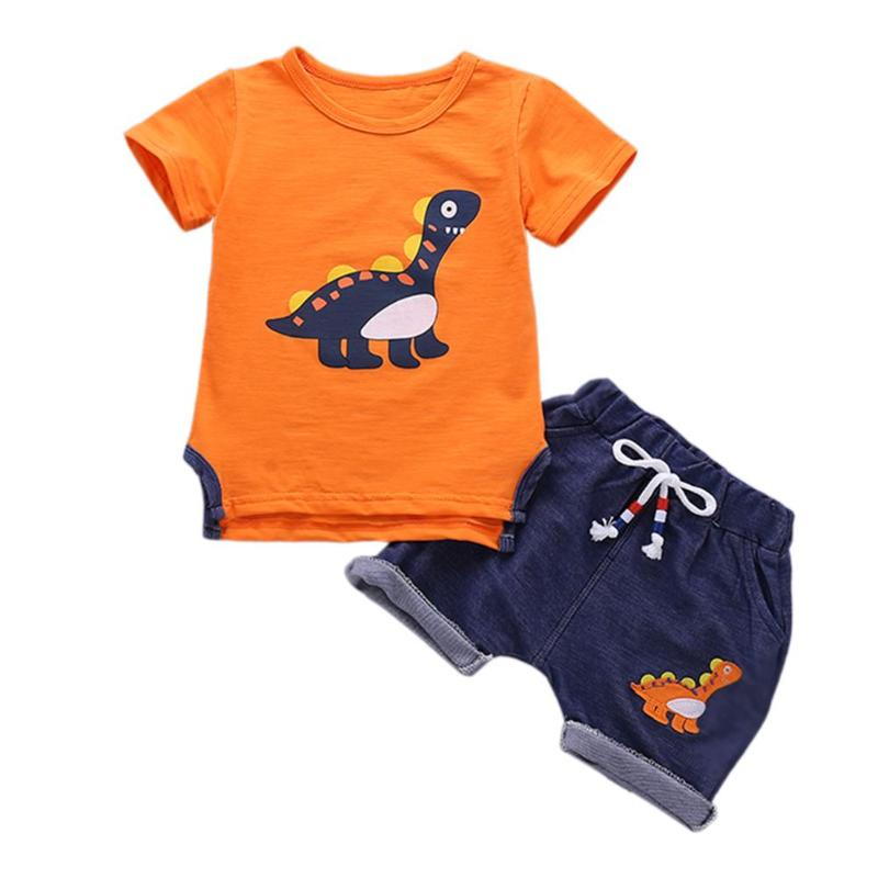 2pcs/set Boys Kids Clothes Set Summer Infant Boy Outfits Suit O-Neck Short Sleeve p2610Buy mate