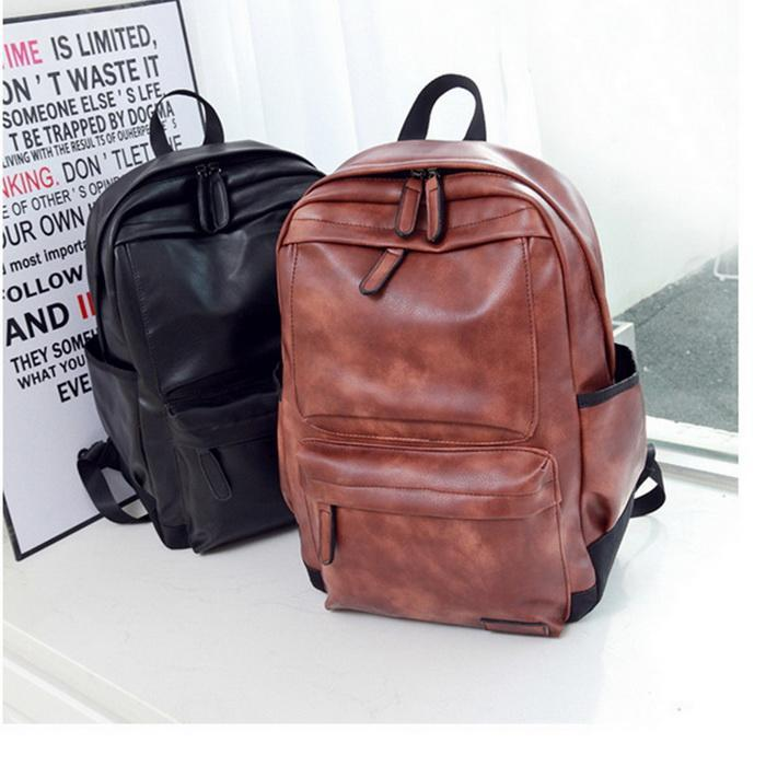 Backpack England Style Fashion New Crazy Horse Leather Backpacks