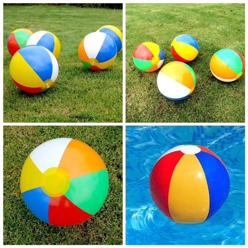 Beach Ball Multicolored Children Bath Summer Shower Swimming Toys