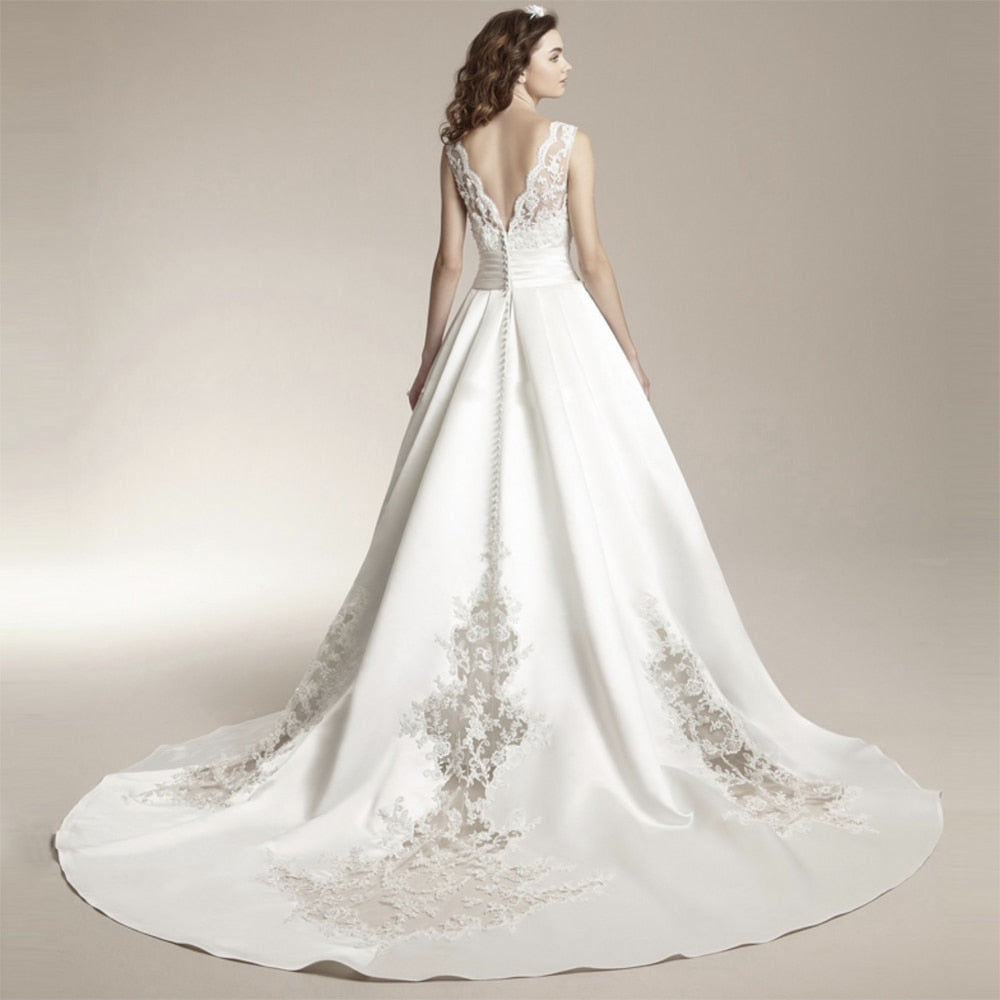 New Vestido De Noiva White Lace Wedding Dress  Plus Size Customized Wedding Gowns Bride Dress p3437Buy mate
