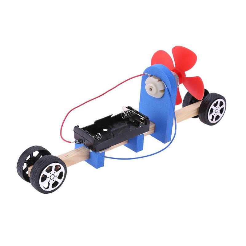 DIY Racing Car with Variable Speed Kid DIY Assembling Aerodynamic Vehicle Toy Children p2752