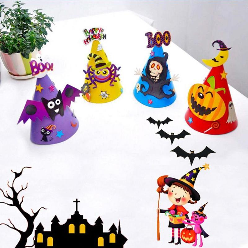 Halloween Hat Colorful Paper Hats for Kids Halloween Costume Supplies