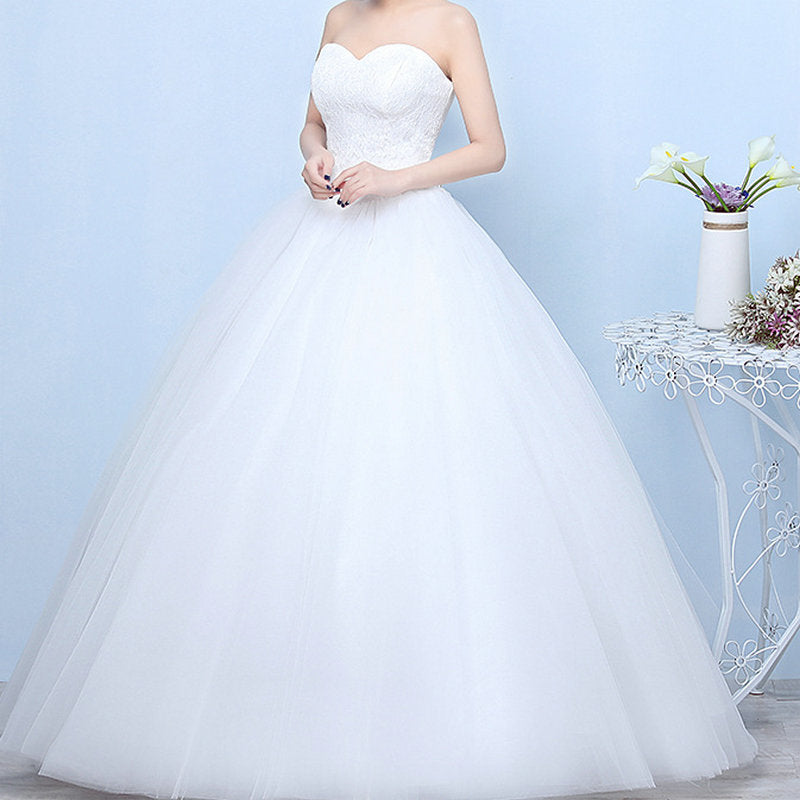 Robe De Mariage Princess Bling Bling Luxury Lace White Ball Gown Wedding Gowns Vestido De Noiva p3473Buy mate