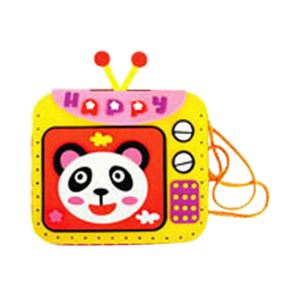 Kids Colorful EVA Cartoon Handmade Bags DIY Hand-sewn Diamond Bags Toys p2657