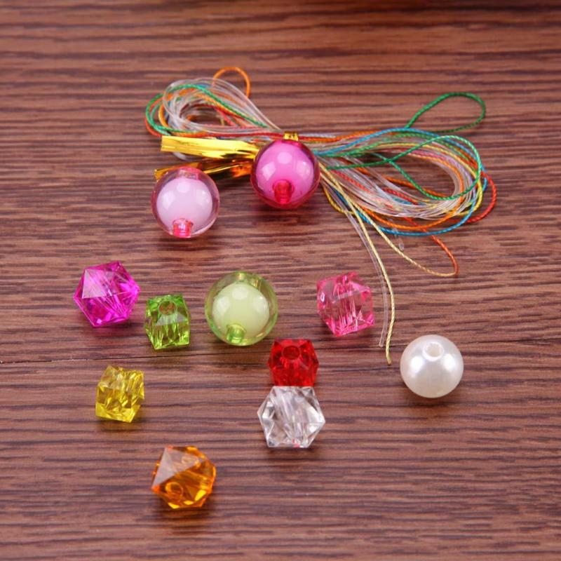 Assorted Children Girls DIY Jewelry Chain Making Accessories Kids