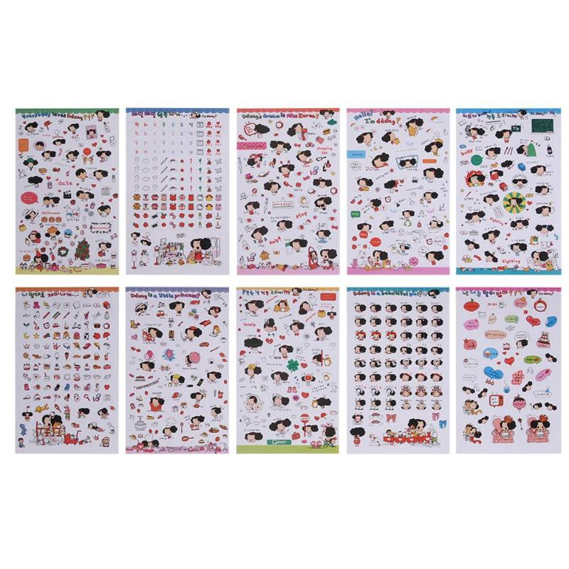 Confused Doll Transparent Sticker Waterproofg Album Sticker Diary