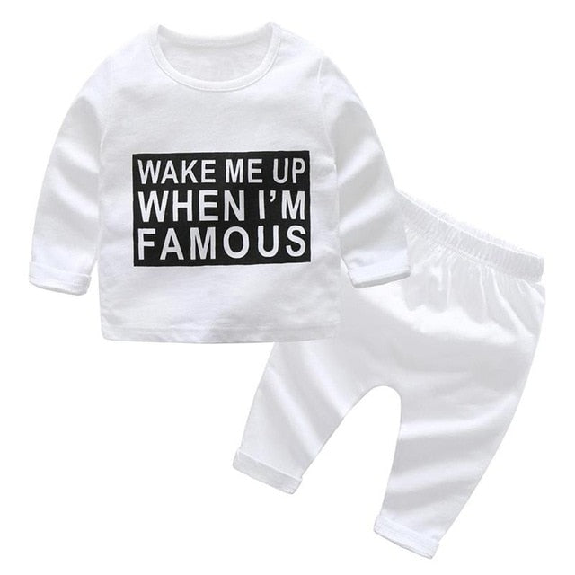 2pcs/set Baby Boys Clothing Sets Casual Kids Boys Clothes Set