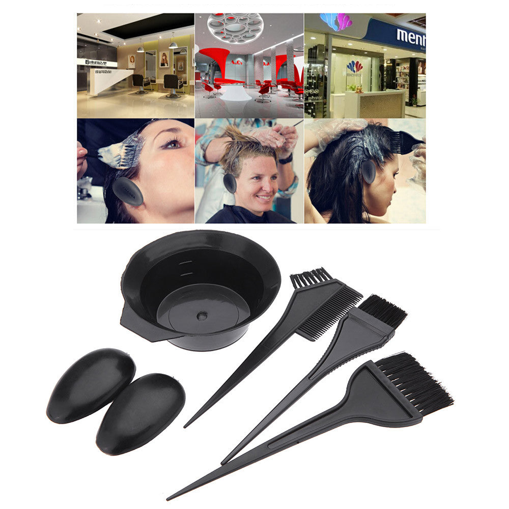 Hairdressing Brushes Bowl Combo Salon Hair Color Dye Tint Tool Set