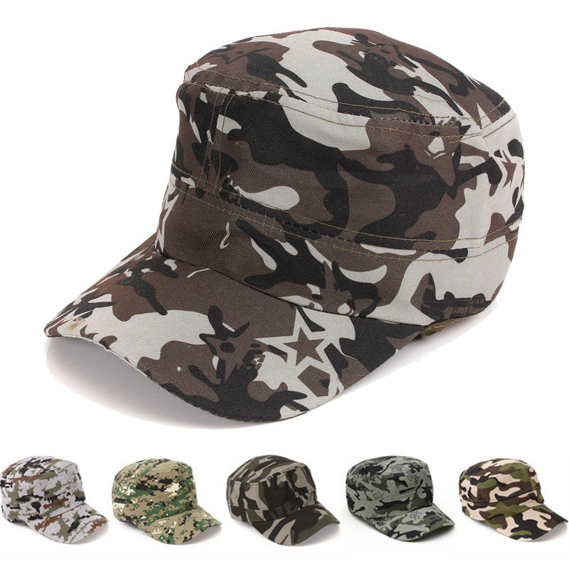 Fashionable Men Women Sun Visor Army Camouflage Baseball Cap Snapback Soldier Combat Hat Cotton  Cap p3873