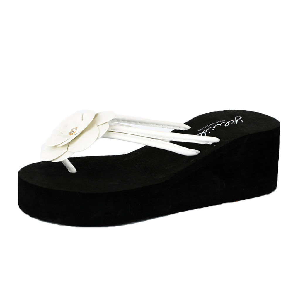 Women Platform Bath Slippers Wedge Beach Slope Flops Beach