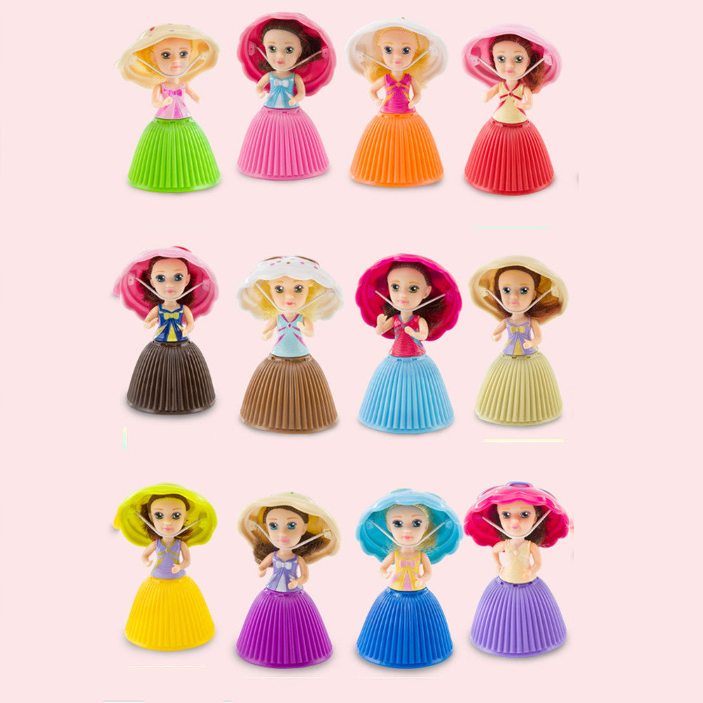Fashion Cartoon Lovely Surprise Cupcake Princess Doll Mini Beautiful Cute Cake Doll Toys p2807Default TitleBuy mate