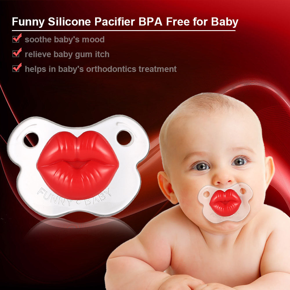 Funny Kissable Pacifier Silicone Pacifier BPA Free for Baby