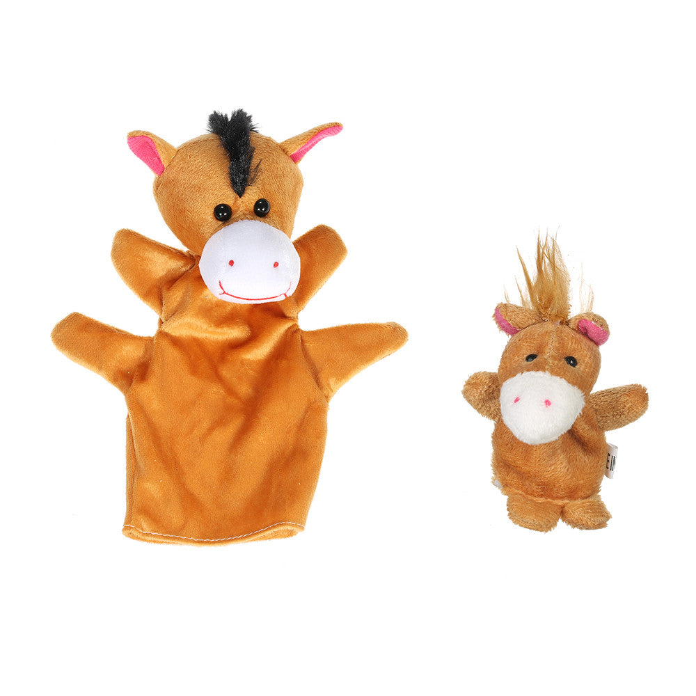 Animals Hand Puppets Finger Puppets  Puppet Set 2Pcs Cartoon