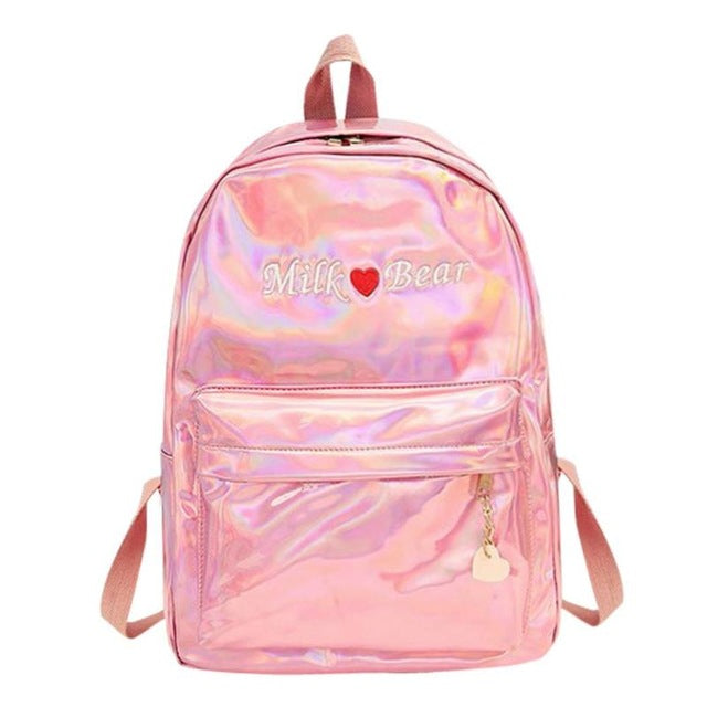 329d352de2 Mini Travel Bags Silver Blue Pink Laser Backpack Women Girls Bag PU Leather  p2682