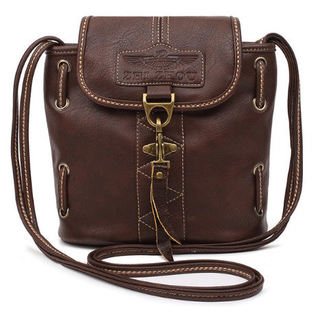 Vintage Crossbody Leather Bags p2762BrownBuy mate